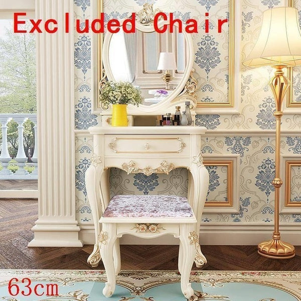 European Wood Bedroom Furniture Penteadeira Korean Dressing Table
