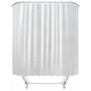 Shower Curtain Translucent 3D Thickened Shower Curtains Bathroom Curtain Moldproof Waterproof