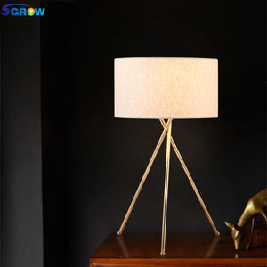 Nordic Fabric Lampshade Table Lamp