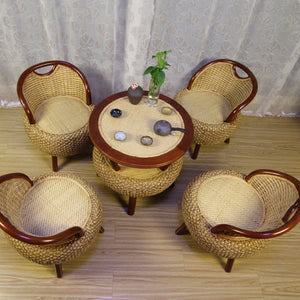 New 100% rattan chair rattan chair set Living room Furniture Sitting room