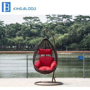 Outdoor patio egg swing hanging chair for garden