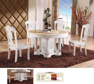 Wooden Furniture Iron Furniture  Antique Wooden Marble Top Dinning Table