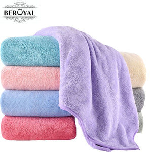 Beroyal Brand Super Absorbent Bath Towels  Luxury Microfiber Bath Towel 140x70cm