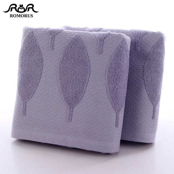 New Large Bathroom Towels 70x140cm 100% Cotton Soft Bath Face Towel for Adults in Khaki/Purple/Blue Gray Absorbent Home Textile