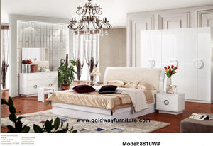 Nightstand  Luxury Bedroom Furniture Modern Wooden Bed Room Set Sets