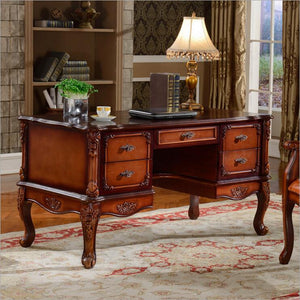 American furniture dark color office desk study desk with drawer