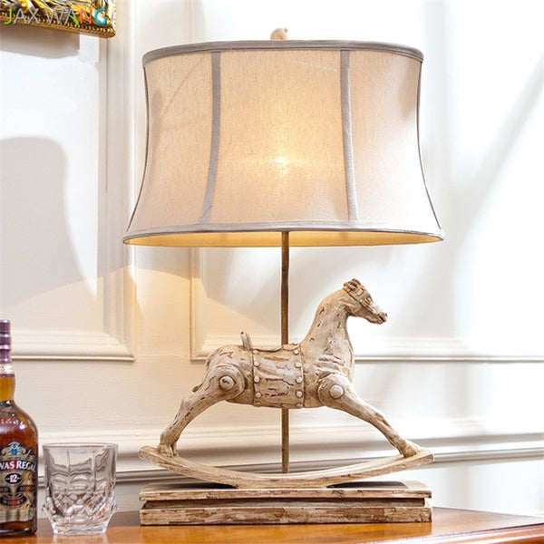 Table Lamps Luxurious Resin Hand Carved