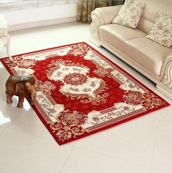 Classical Red Carpet Area Rug Rugs