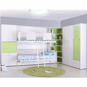 Customized multifunctional double decker hidden wall bed folding bunk bed furniture