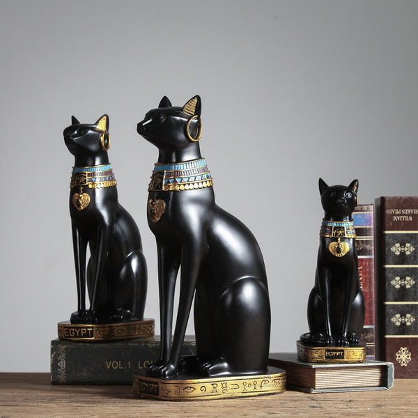 Creative Home Decoration Accessories Lucky Egyptian Cat Resin