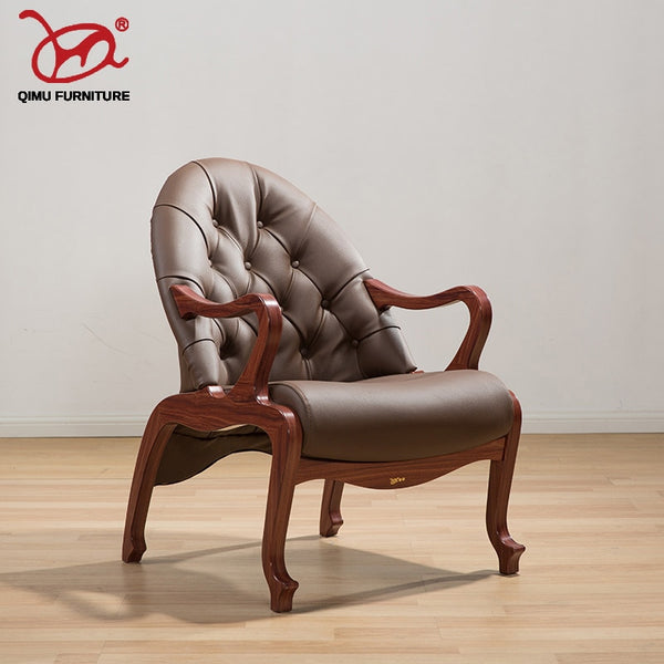 Antique solid armchairs seat leisure Chinese style