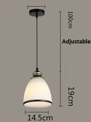 Modern Minimalist Set of 3 Kitchen Island  Pendant Light White Glass Lamp
