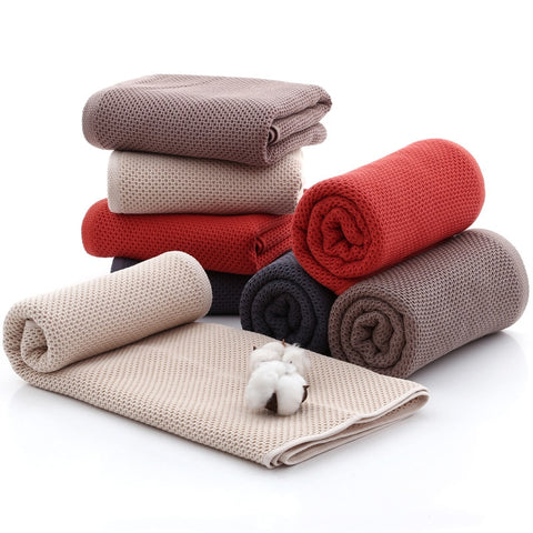 70x140cm Honeycomb Breathable Bath Towel Elegant