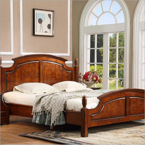 American wood  bed bed European classical American country