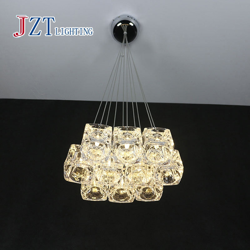 Modern Crystal Droplight (Can Adjustable Freely) Crystal Glass Lamp Bar Dinningroom Ceiling Light