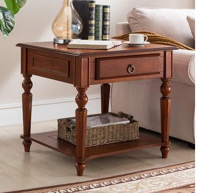 American country retro bedroom two drawers bedside cabinet European-style