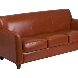 Flash Furniture HERCULES Diplomat Series Cognac Leather Sofa