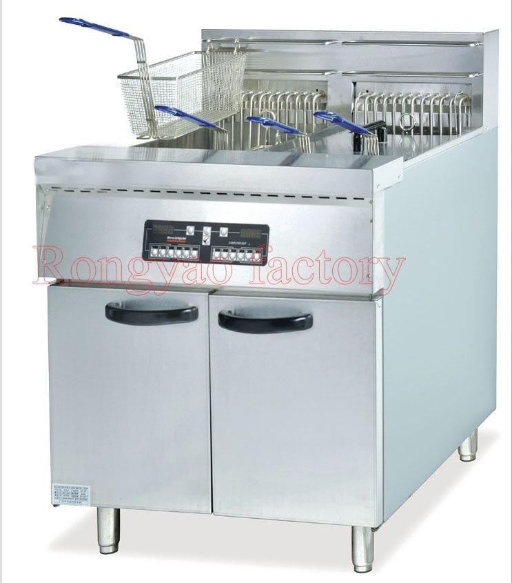 2 Vertical computer plate Twin-cylinder four-sieve electric counter top Fryer Computer plate Fryer