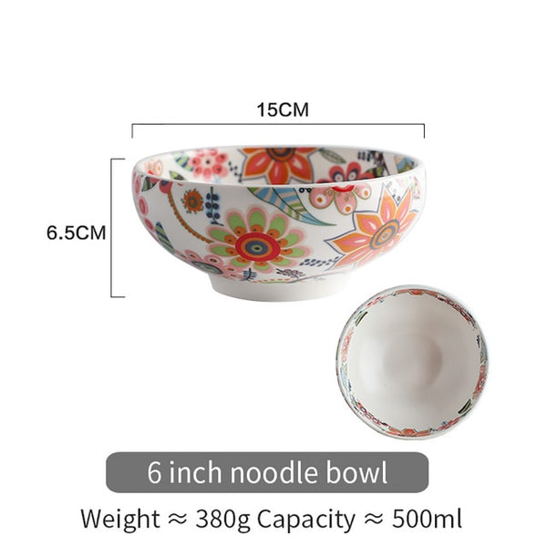 SWEETHOME  Frosted Glaze Bowl Earthenware Household Dishes
