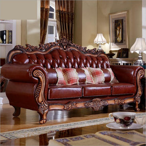 Living room modern leather sofa European sectional sofa