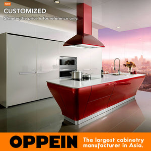 High gloss lacquer kitchen cabinet white color modern kitchen furniture