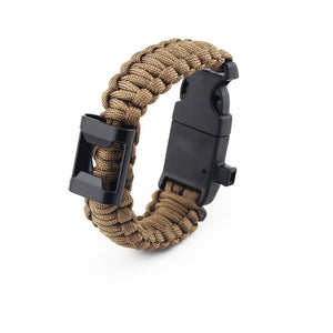 Paracord Survival Bracelet with Bottle Opener, Hiking Scraper, Emergency Whistle, Compass, Fire Starter - Jumpinhike
