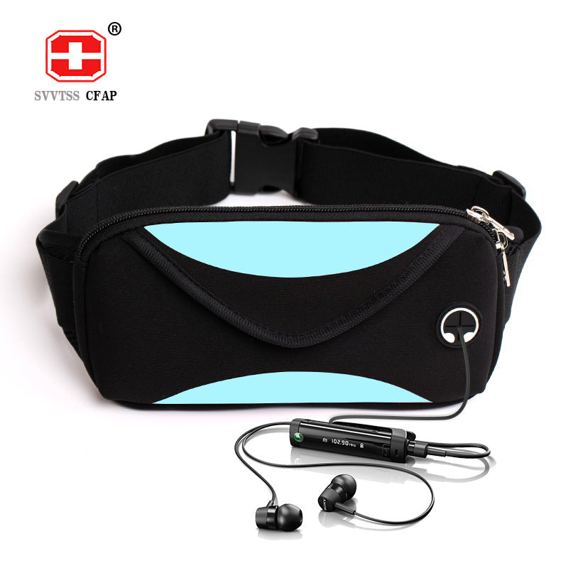 Fashion unisex waist pack men waterproof fanny pack women belt bum bag waist bag male phone wallet Pouch Bags Patchwork black - Jumpinhike