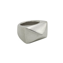 Load image into Gallery viewer, Rectangular stud signet, solid sterlin silver
