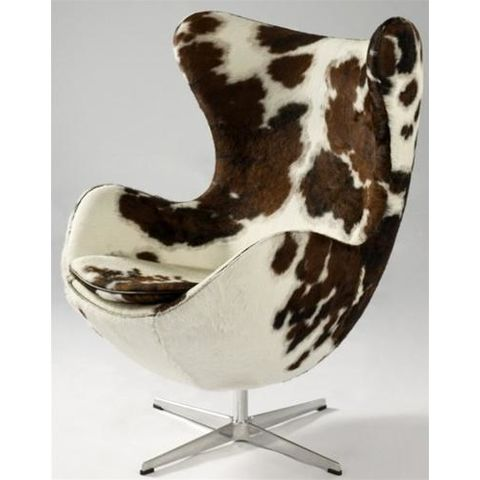 Aron Living Napa Lounge Chair, Pony Cowhide Pattern - Swing Chairs Direct