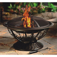 "30"" Wood Burning Firepit with Scroll Design - 01"