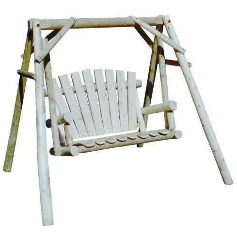 Lakeland Mills Cedar Log Yard Swing - 4 Foot - Swing Chairs Direct