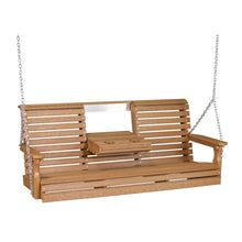 LuxCraft Plain Porch Swing, 5 foot - Swing Chairs Direct