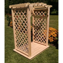 4 Foot Wide Jamesport Cedar Arbor with Deck by A&L Furniture