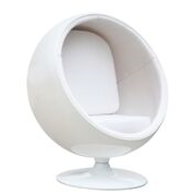 Aron Living Globe Lounge Chair, White - Swing Chairs Direct