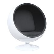 Aron Living Globe Lounge Chair, Black - Swing Chairs Direct