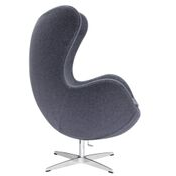 Aron Living Vintage Lounge Chair, Grey, 100% Wool Fabric - Swing Chairs Direct