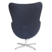 Aron Living Vintage Lounge Chair, Black, 100% Wool Fabric - Swing Chairs Direct