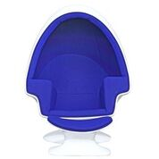 Aron Living Alpha Egg Chair and Ottoman, Blue - Swing Chairs Direct