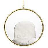 Hanging Gold Bubble Chair Acrylic With White Cushion By Aron Living - Swing Chairs Direct