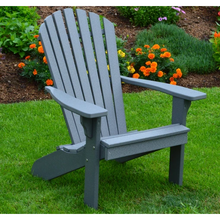 The Amish carefully handcraft the chairs in Pennsylvania. There are no visible screws on the backrest of the chairs t which gives you a completely authentic appearance. The pitch of this recycled plastic Adirondack chair is perfect and you will enjoy every minute that you sit in them all season long.