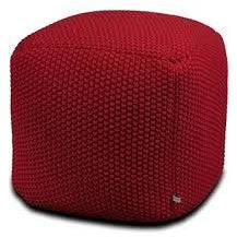 Aron Living Pouf Square Ottoman Red - 16 Inch - Swing Chairs Direct