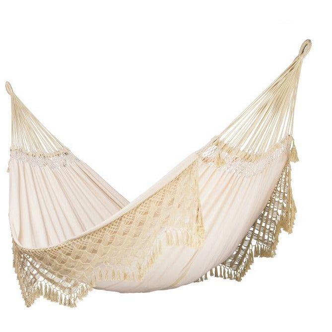 Bossanova Organic Cotton Kingsize Classic Hammock by La Siesta - Champagne - Swing Chairs Direct