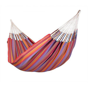 Carolina Cotton Double Classic Hammock - Flowers Pattern - by La Siesta