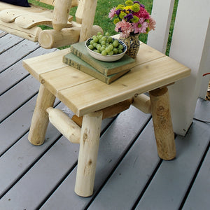 Lakeland Mills Cedar log end table