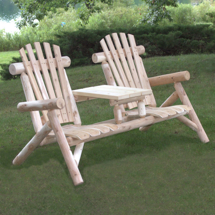 Lakeland Mills Cedar Tete-A-Tete Floor Chair Set - Swing Chairs Direct