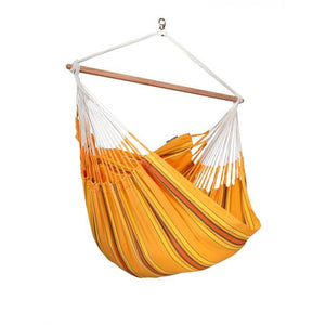 Currambera Cotton Lounger Hammock Chair by La Siesta - Swing Chairs Direct