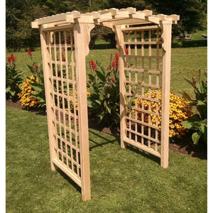 6 Foot Cambridge Pine Arbor by A&L Furniture
