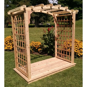 Pine Arbor with Deck by A&L Furniture
