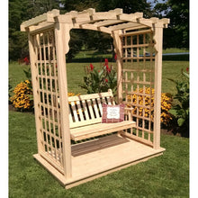 Cambridge Pine Arbor with Deck and Swing
