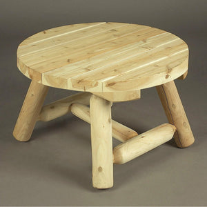 Cedar Looks 36″ Round Log Coffee Table